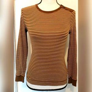 Lauren Ralph Lauren Sweater Striped Elbow Patches